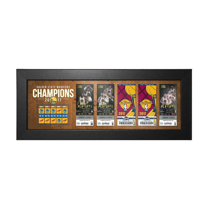 Golden State Warriors 2017 NBA Finals Champions Tickets to History Framed Print