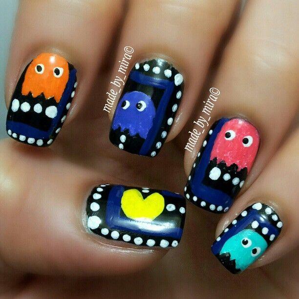 Love this pac man nail design - fo sho funky