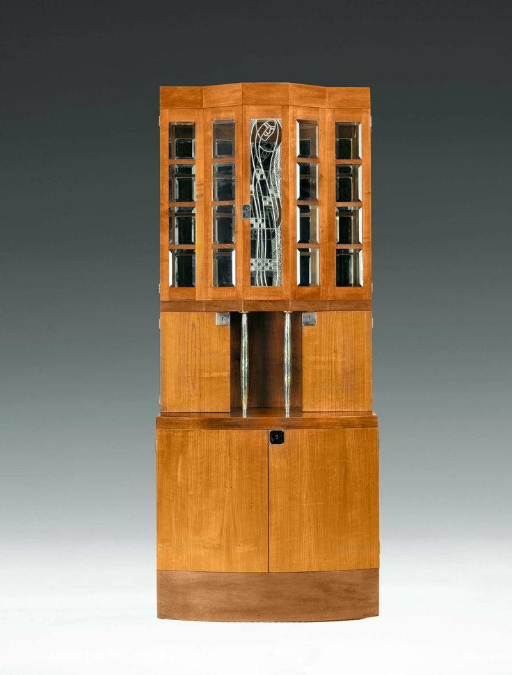 ** KOLOMAN MOSER, J. W. MÜLLER oder WENZEL HOLLMANN  DRAWING ROOM CABINET designed by: Koloman Moser, Vienna, 1901 executed by: J. W. Müller or Wenzel Hollmann, Vienna