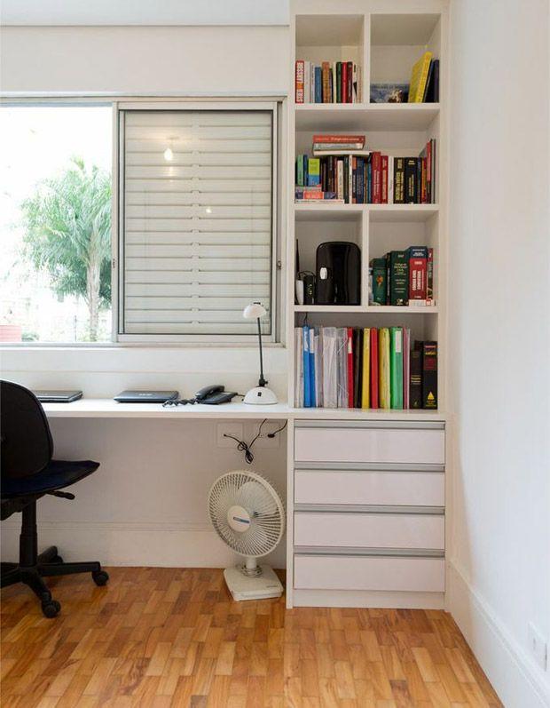 Um home office cheio de luz natural. Veja mais: http://www.casadevalentina.com.br/blog/materia/no-topo-do-mundo.html   #decoracao #decor #interior #design #office #simple #natural #light #cozy #simples #charme #casadevalentina