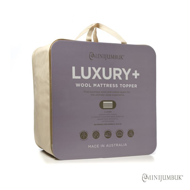 Introducing our new Luxury + Wool Mattress Topper designed for those that want the ultimate in comfort and support. Made using Airlight Technology, our Luxury + Wool Mattress Topper incorporating 5 unique layers, the topper will soften even the hardest mattress and restore your body to its natural state.