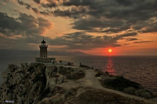 VISIT GREECE| Heraion Lighthouse in Loutraki, Peloponnese, Greece