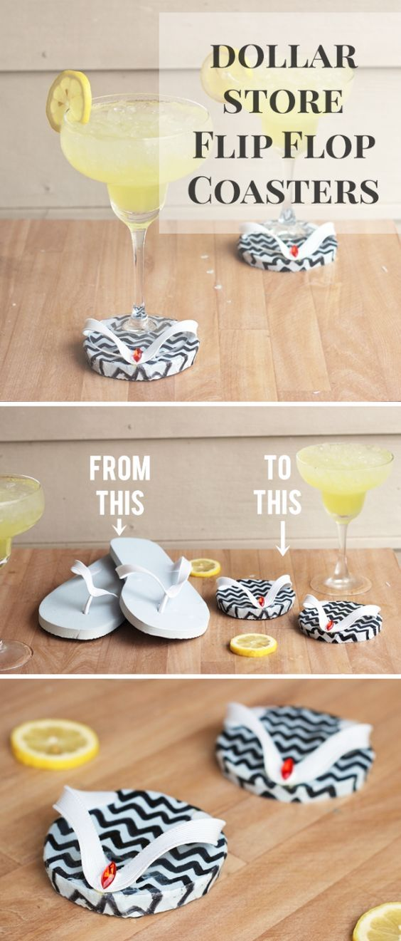 DIY Flip Flop Coasters – How To-sday
