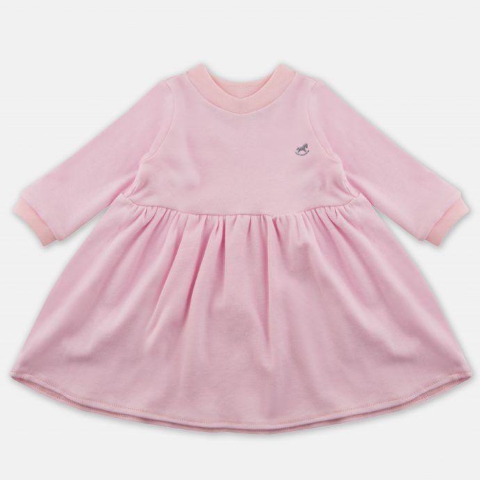 sukienka z dzianiny różowa