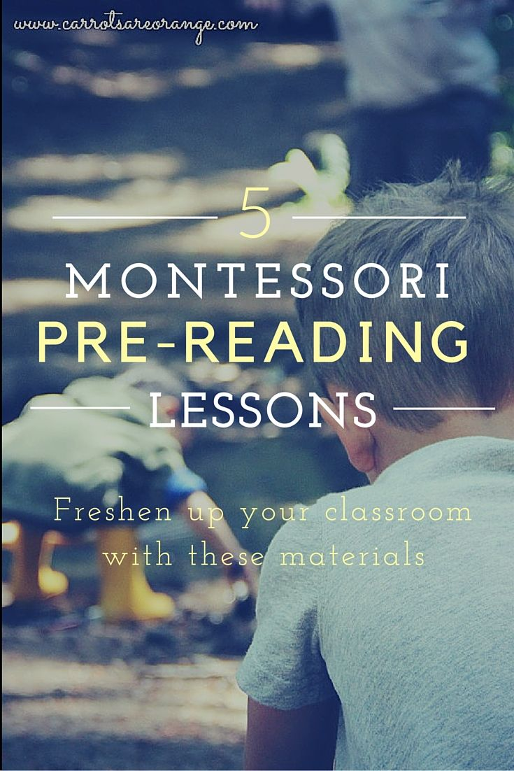 Learn 5 Montessori Pre-Reading Lessons to freshen up your classroom! Materials included in this post!