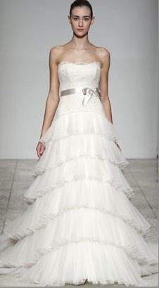 Robe De Mariée Sans Bretelle Style De A-ligne avec ceinture en organdi et dentelle