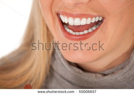 Laughing woman close up