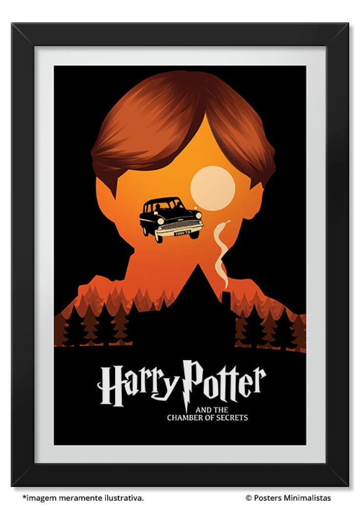 Câmara Secreta - Harry Potter - Livros   Posters Minimalistas