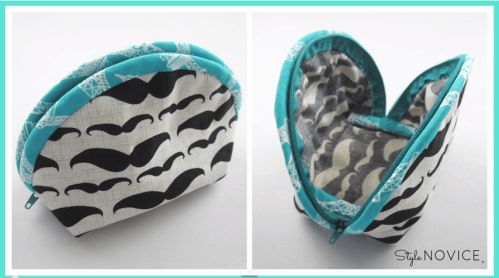 Step by Step Sewing DIY Make Up Bag No. 2 StyleNovice