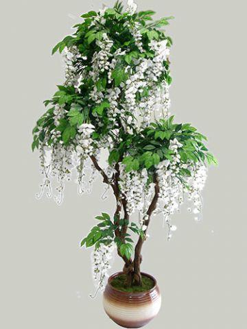 Цветущие деревья из бисера. Деревья и цветы из бисера.