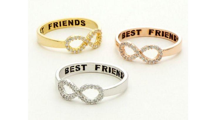 Végtelen jeles strasszos barátság gyűrű