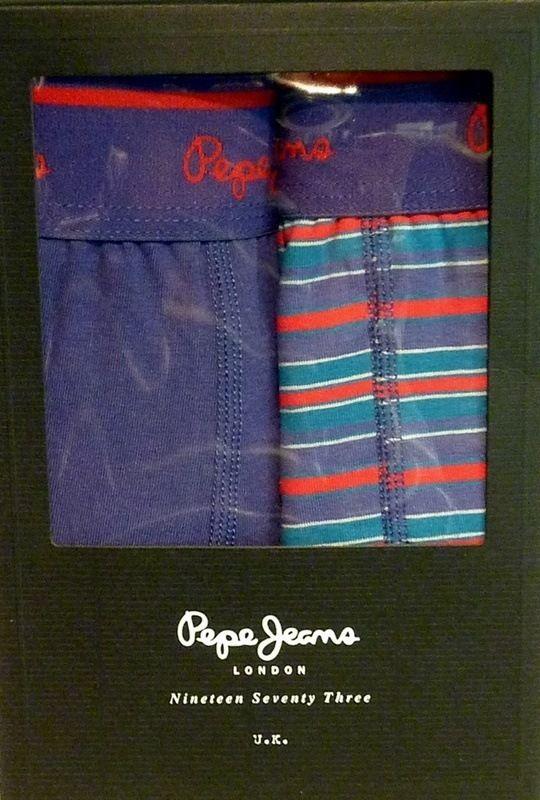 Pack de 2 boxers Pepe Jeans Trunk Rowan - ENVÍO 24/48h - Ref: U5 F3306 - Calzoncillos de pierna media con goma vista en marino y logo de la marca en rojo. Tu ropa interior masculina en varela intimo http://www.varelaintimo.com/marca/39/pepe-jeans