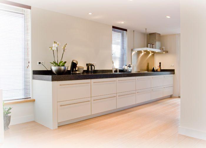 25 beste idee n over lichte houten keukens op pinterest witte houten keukens en houten - Deco witte keuken ...