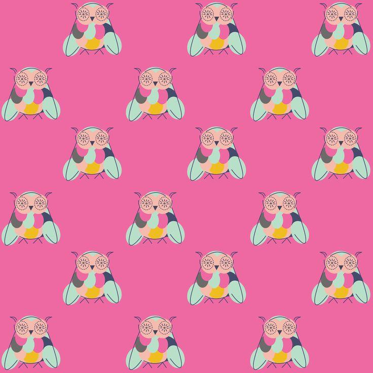 Free digital pink owl scrapbooking and fun paper – ausdruckbares Geschenkpapier – freebie | MeinLilaPark – DIY printables and downloads
