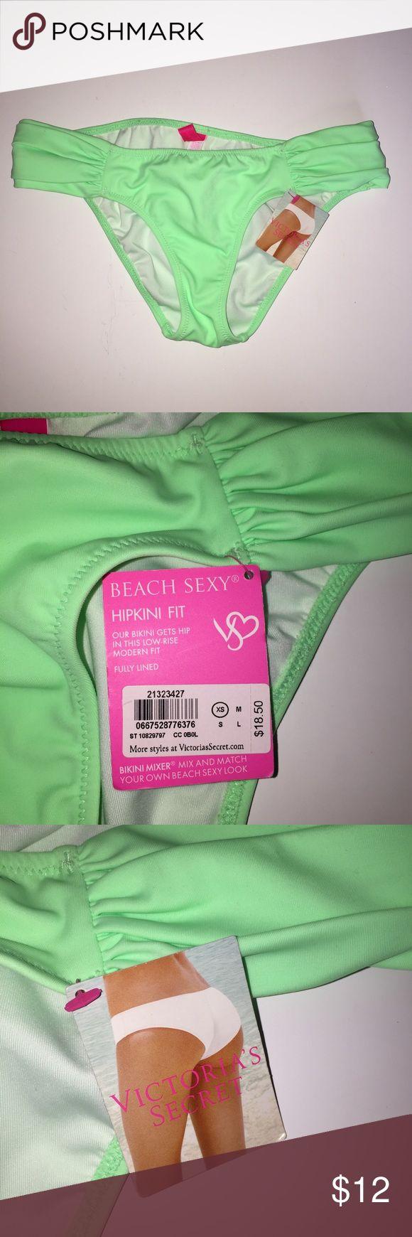 Victorias Secret Hipkini Green Bikini Bottom XS NEW Victorias Secret Hipkini Green Bikini Bottom XS Nwt BEACH SEXY Victoria's Secret Swim Bikinis