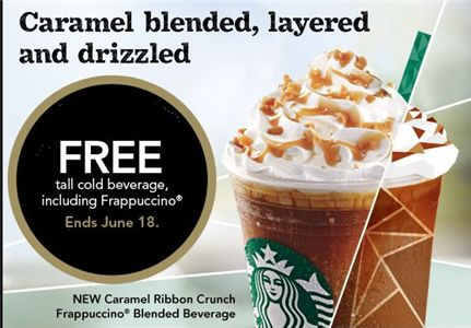 Starbucks – Coupon for FREE Cold Beverage