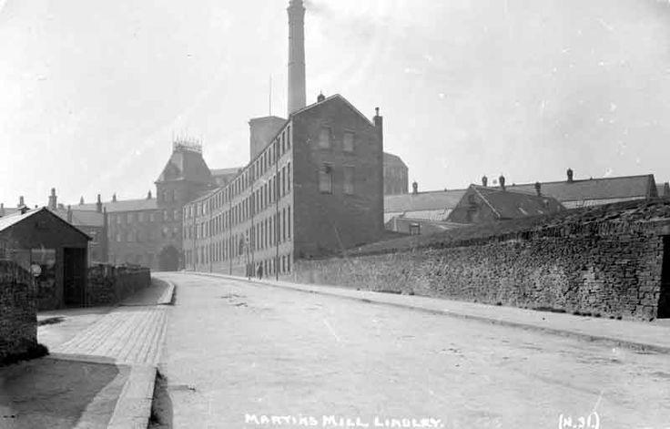 Martins Mill, Lindley, 1910. Source: Kirklees Image Archive