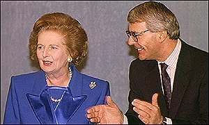 PM John Major and Margaret Thatcher-Thatcher's Conservative successor as prime minister, John Major, inherited a badly divided party, a country that had grown tired of Conservative rule, and a major dispute over the European Community, which was moving toward greater integration. In 1991 the major European powers agreed on the Maastricht Treaty, which created the European Union (EU) and took the next steps toward the establishment of a single economic union. The treaty tied the exchange…