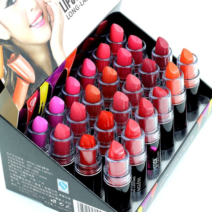 Lipstick Makeup Lipsticks Quality Lips 24 pcs 12Colors Red Make Up Lipstick Set Lip Stick Net 3.5g732