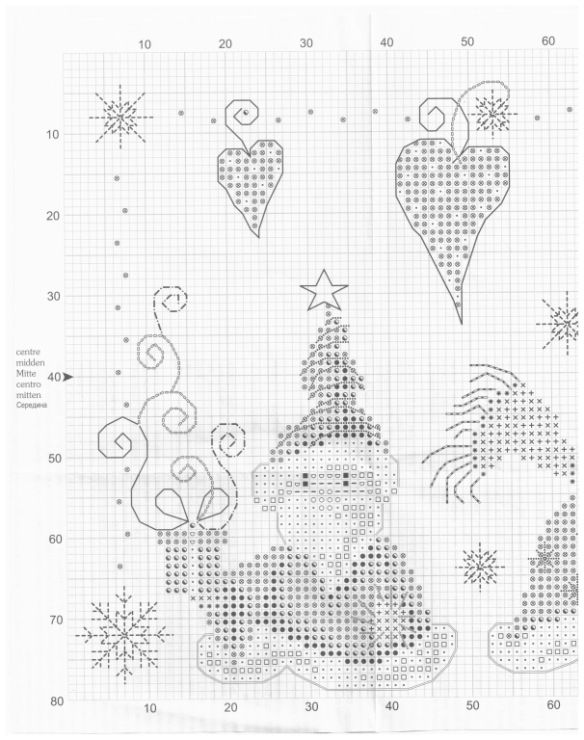 Cross-stitch Santa Gnomes, part 3...  color chart on part 2...   Gallery.ru / Фото #42 - 204 - markisa81