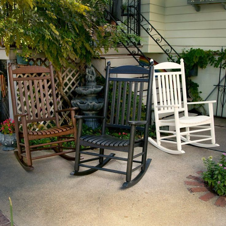 Outdoor POLYWOOD® Jefferson Recycled Plastic Rocking Chair - J147BL
