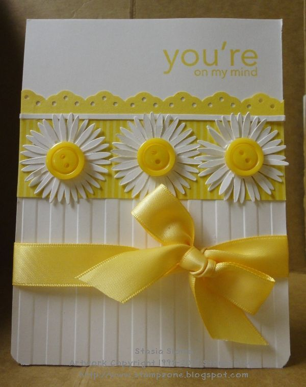 Daisies and Yellow!  You can't get a happier card than that.