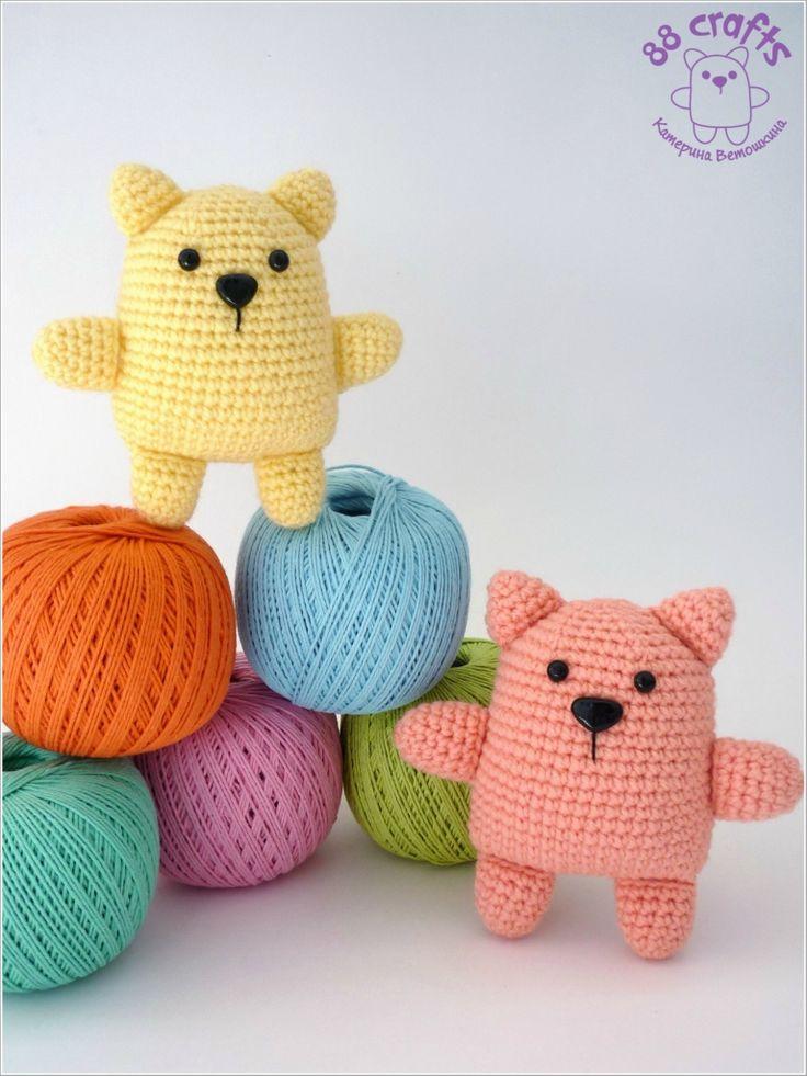 Amigurumi Bear - FREE Crochet Pattern (in russian language).