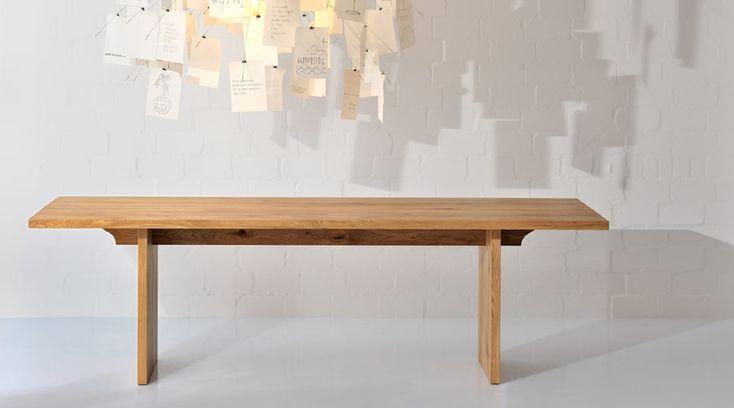 #Esstisch SAGA 180 x 95 cm Eiche (massiv, geölt) #Vitamin-Design