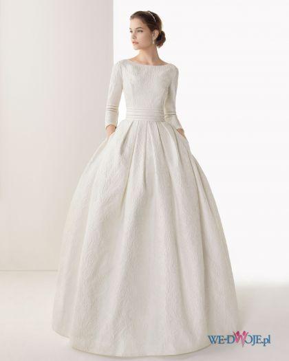 Biała suknia ślubna Rosa Clara z rękawem 3/4 #slub #wesele #wedding #sukienki
