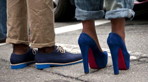 pumpsFashion, Style, Cobalt Blue, Blue Shoes, Boyfriends Jeans, Heels, Christian Louboutin, Blue Suede, Blue Su Shoes