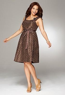 Belted Dot Dress by Avenue...loving it!