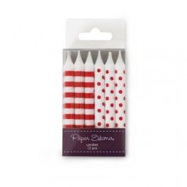 Cake Candles - Red {Also available in other colors} - Set of 12