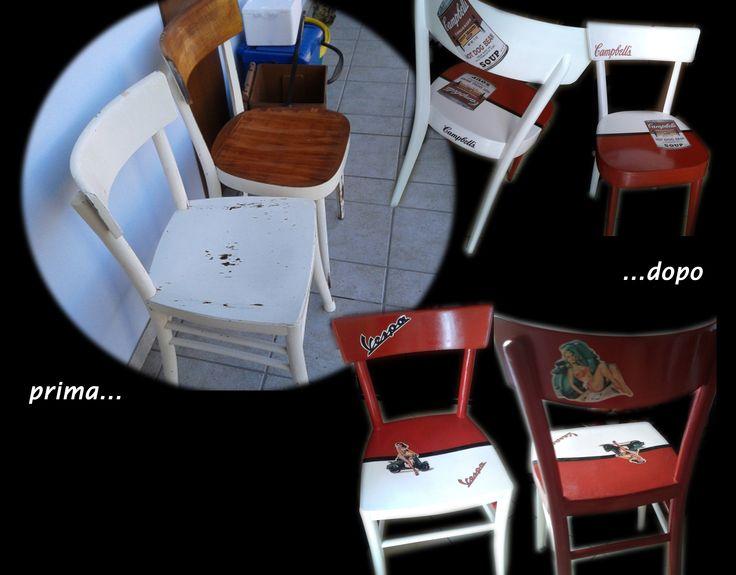 Ecco come recuperare in modo creativo delle vecchie sedie da bar!