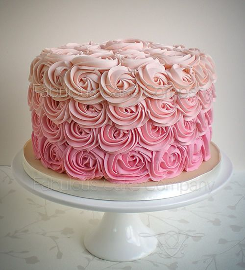 Rose swirl delight Birthday Cake by The Fabulous Cake Company in Wells-next-the-Sea, North Norfolk. .This beautiful piped rose swirl design was made recently for a ladies birthday and was completely covered in our fabulous vanilla bean butter cream. Hidden inside was 4 layers of our scrummy madeira cake with strawberry conserve, yummy! A simple but effective design that wowed the birthday girl!