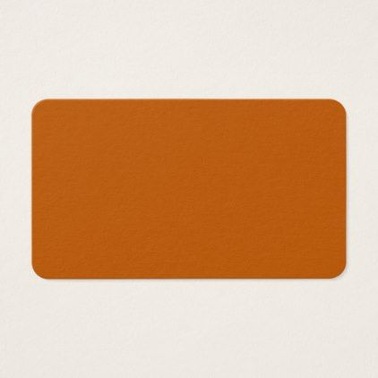 #Burnt Orange Rounded Business Card - customize unique idea