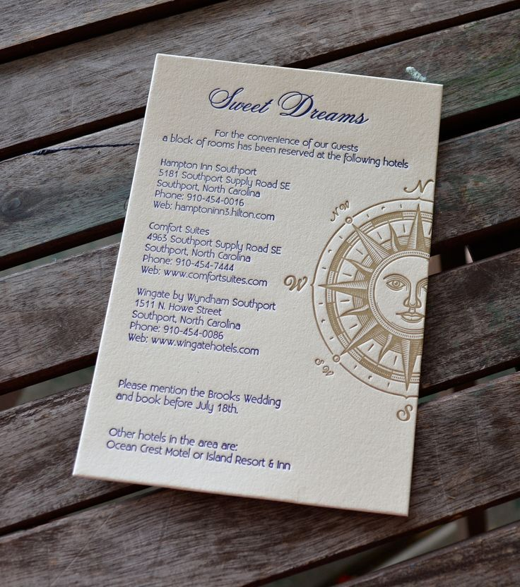 wedding renewal invitation ideas%0A Nautical Letterpress Wedding Invitations  A sweet Accommodations card with  a letterpress compass rose design