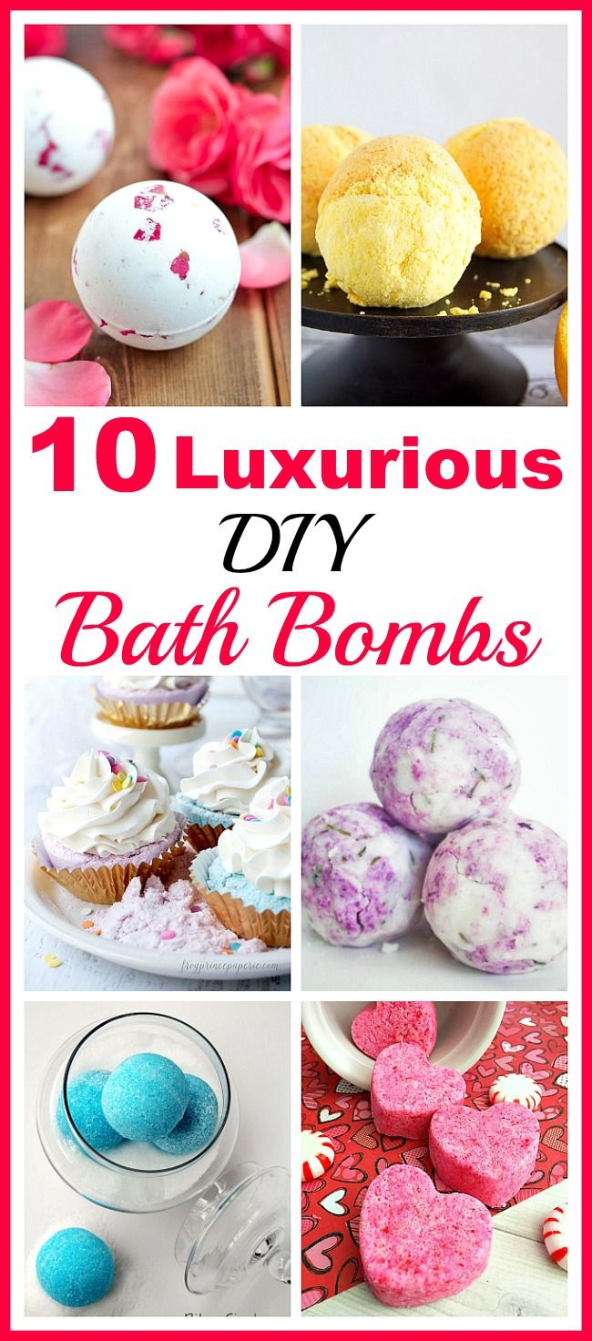 10 Luxurious DIY Bath Bombs- Bring some inexpensive luxury into your life with these luxurious DIY bath bombs! They're easy to make, and create such relaxing baths!   homemade beauty products, DIY gift ideas, spa, relax, homemade gift ideas, DIY beauty, handmade gift