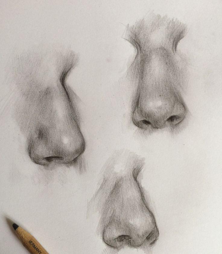 Картинки нос рисовать