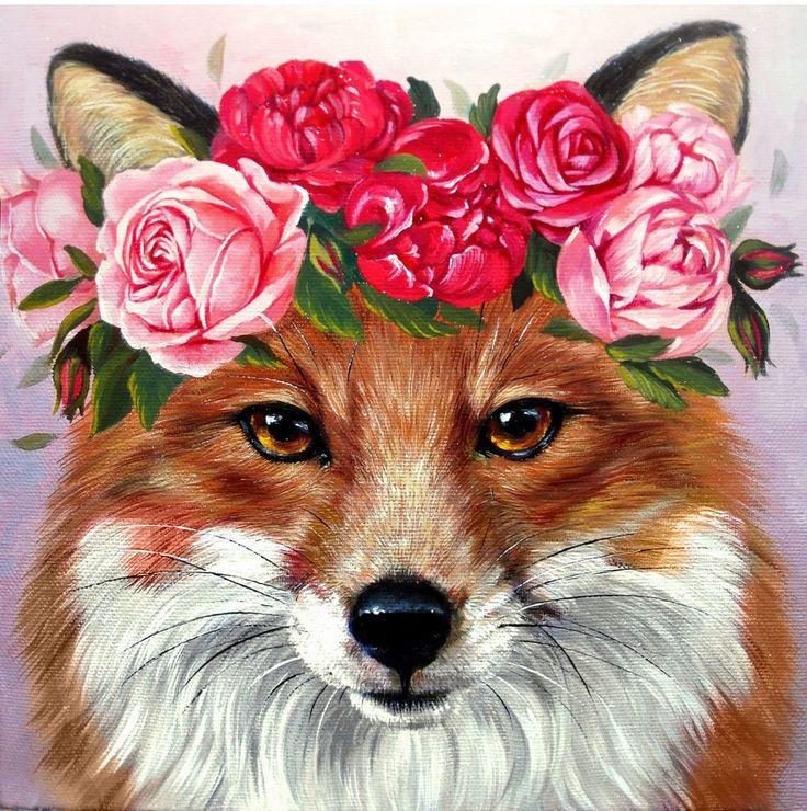 Розы и лисы картинки
