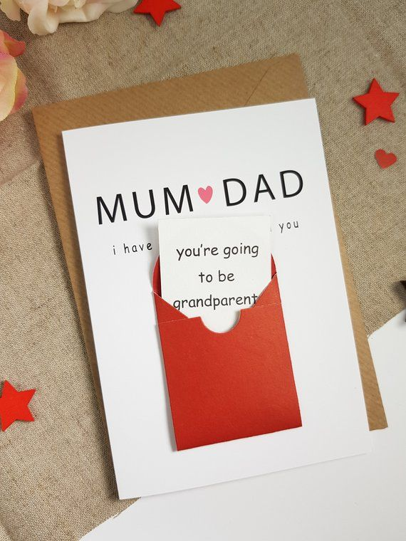 Pregnancy announcement card for the father-to-be