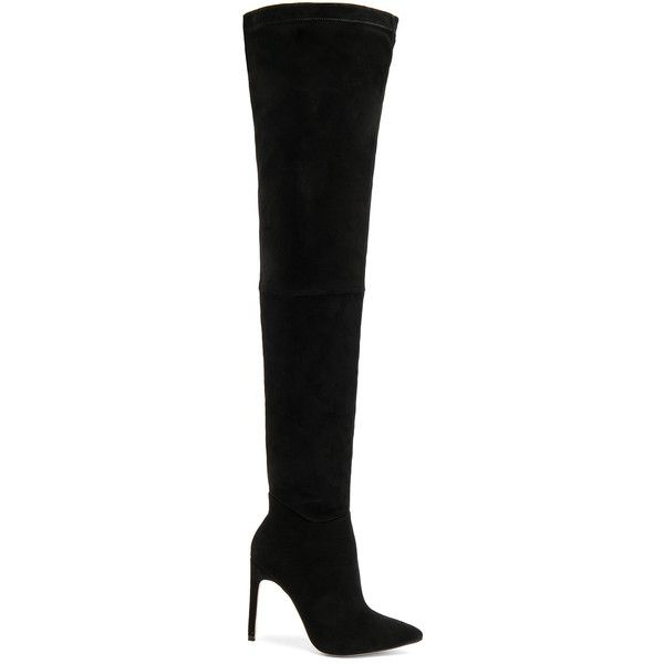 RAYE Thatcher Boot (479 AUD) ❤ liked on Polyvore featuring shoes, boots, over-the-knee boots, over the knee high heel boots, above knee boots, side zipper boots, high heel boots and above the knee boots