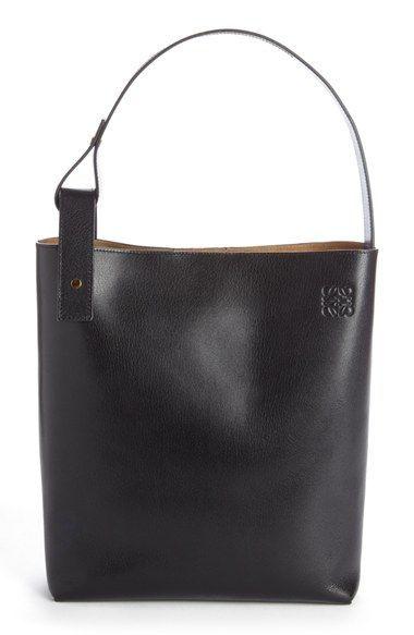 Loewe 'Medium Asymmetrical' Goatskin Leather Hobo Bag
