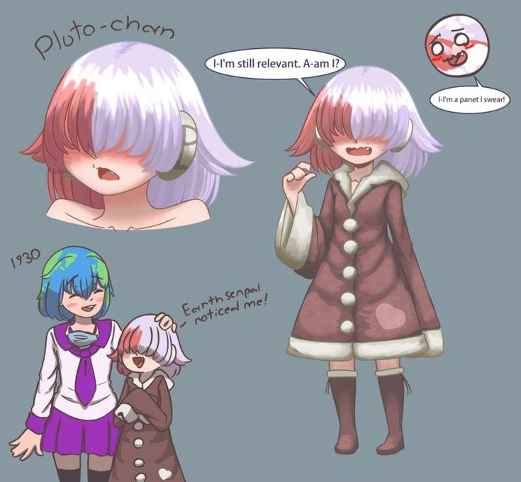 Pluto Chan Earth Meme Thing By JoMunNafudadeviantart On