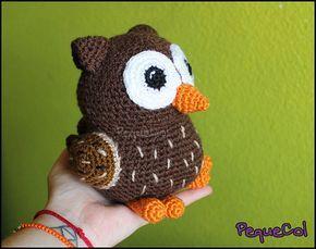Owl Amigurumi by PequeCol on Etsy ♡