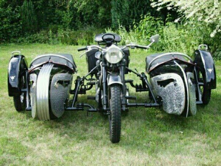 cool double sidecar motorcycles pinterest sidecar. Black Bedroom Furniture Sets. Home Design Ideas