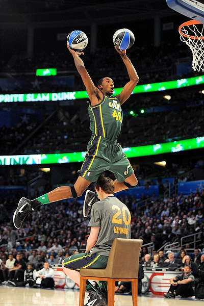 Jeremy Evans with the best dunk of the night