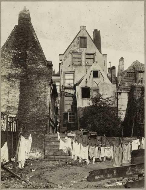 Achterzijde Palmstraat. Amsterdam 1913 The Jordaan
