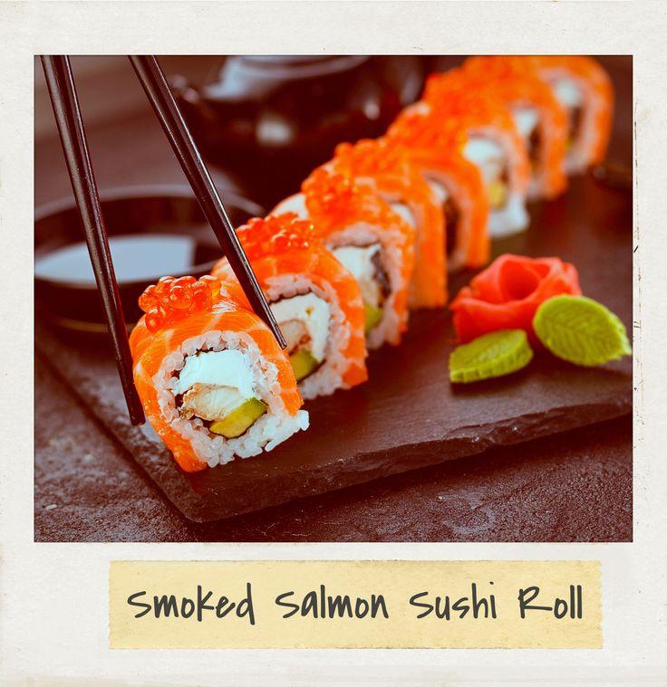 #Smoked #Salmon #Sushi Roll. #Follow #PolaroidFx #Polaroid #Frame #Instant #Collages #Food #Yum #Yummy #Fresh #Healthy #Japan #Japanese #Delicious #Tasty