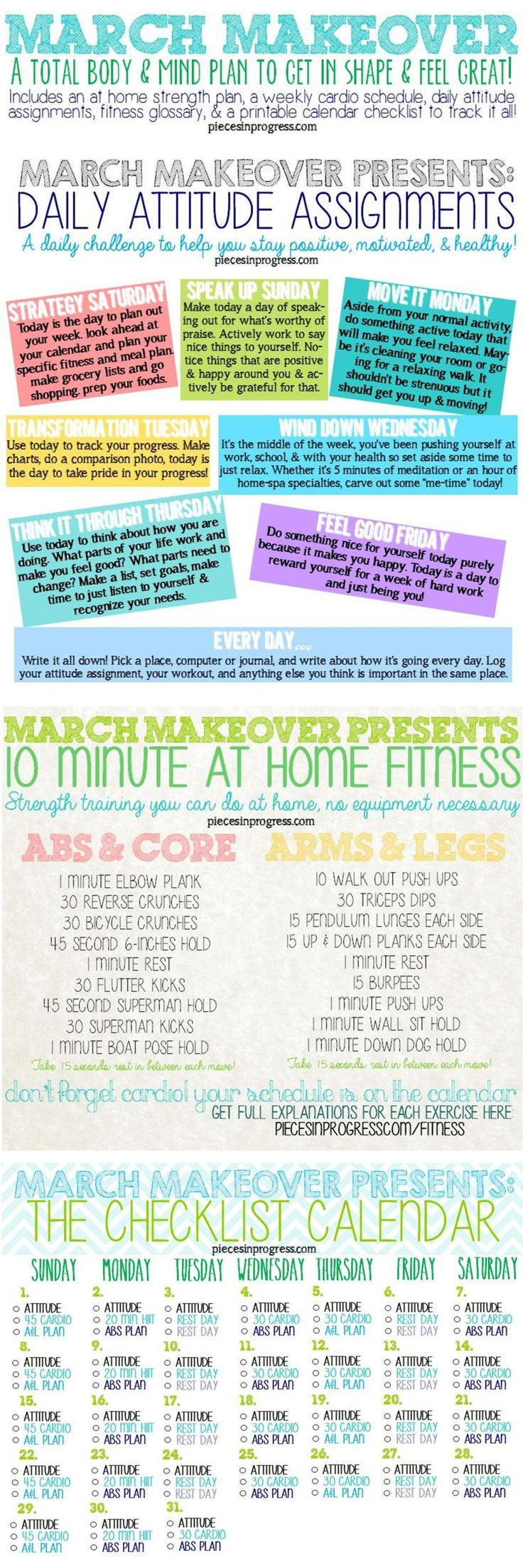 March Makeover Total Wellness Plan #fitness #healthyliving #workouts