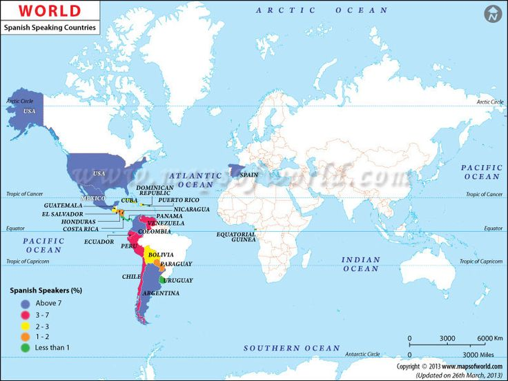 7 best maps images on Pinterest Maps, Spanish speaking countries - best of world map with ecuador